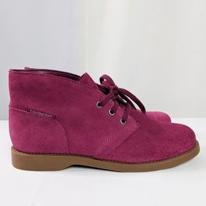 Calvin Klein Jeans Burgundy Lace Up Booties Sz 6.5
